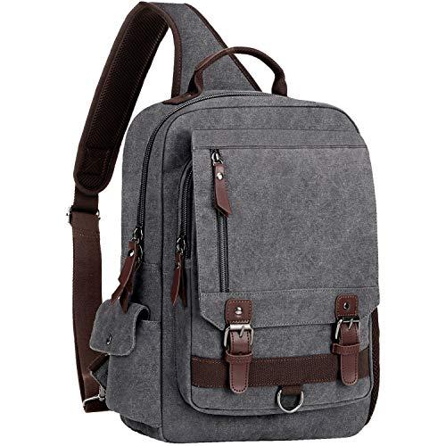 """WOWBOX Sling Bag for Men Sling Backpack Laptop Messenger Bag Fit 15.6"""""""