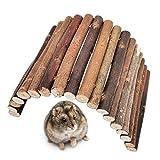 Puente de madera para roedores, puente de sauce Se puede doblar a voluntad Adecuado para hámsteres pequeños, etc. (12 * 23 cm)