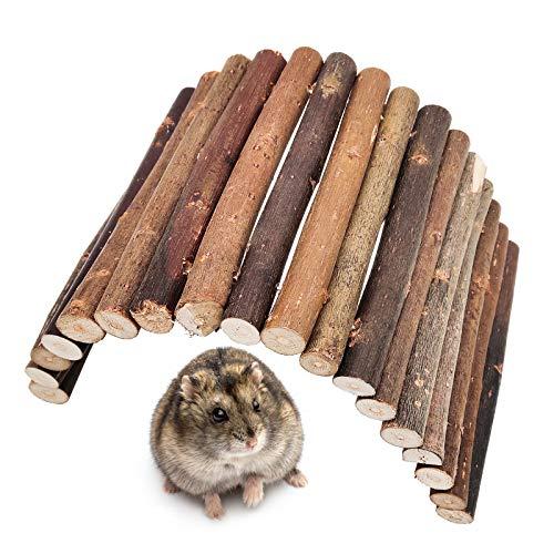 VINLINGDAI Nagerbrücke Holz, Weidenbrücke Kann nach Belieben gebogen Werden Geeignet für kleine Hamster usw(12 * 23cm)