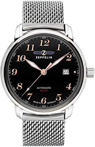 Zeppelin Watches 7656M2 - Orologio da polso da uomo, cinturino in acciaio inox