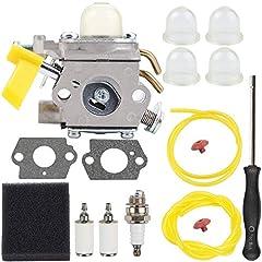 ①Replace#: C1U-H60 308054004 308054012 308054013 308054003 985624001 ②Fit For Homelite UT-32650 UT-21004 UT-21044 UT-29005 UT-29045 UT-21006 UT-29007 UT-21046 UT-29047 ③Fit for Ryobi Homelite String Trimmer Brush Cutter Blower ④Used On Ryobi RY29550 ...