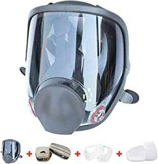 RoofWorld 15 in 1 Gas Mask Full Face Facepiece Respirator Same for Gas Respirator with..