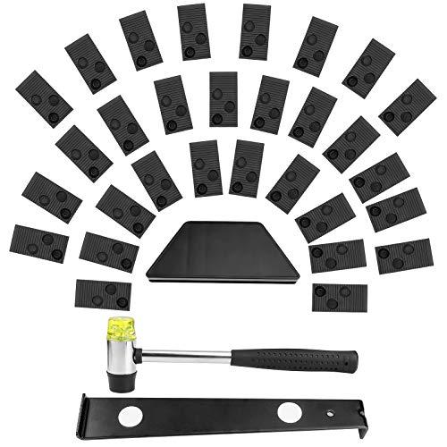 Kit de Instalación de Suelos de Madera Laminada Kit de Suelo Laminado con Bloque de Rosca Barra de Tracción Mazo 20 Espaciadores