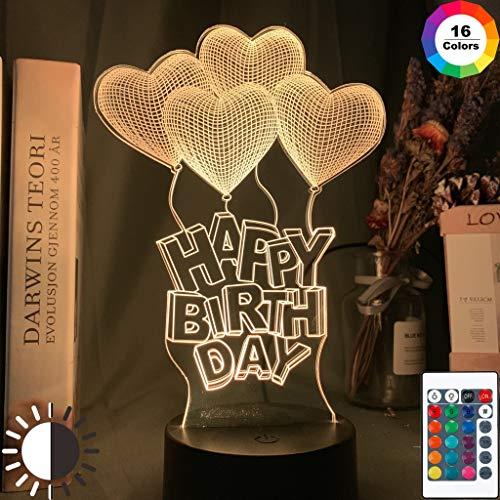 Herz Luft Ballon Mädchen Baby Einzigartiges Nachtlicht 3D LED Tischlampe Kinder Geburtstagsgeschenk Nachtzimmer Dekoration