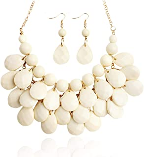 Best cream chunky necklace Reviews