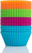 "Webake 24 Pack 2.8"" Silicone Baking Cups Standard Size Muffin Cupcake Liners"