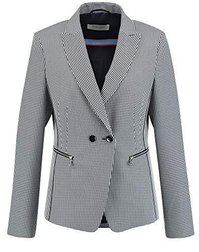 Gerry Weber 330018-38232 Blazer, Multicolore (Blu/Ecru/Bianco 8090), (Herstellergröße: 38) Donna