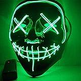 ZHYX Flash Wear Purge LED MaskHalloween Costume LED Glow Scary Light Up Máscaras para Festival Fiesta Carnaval Disfraz,B