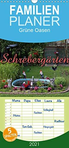 Schrebergärten - Familienplaner hoch (Wandkalender 2021, 21 cm x 45 cm, hoch)