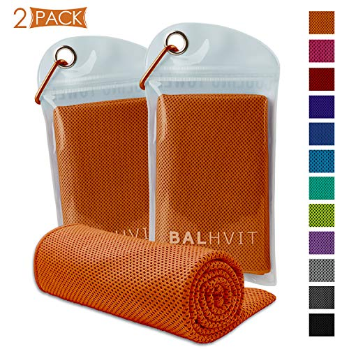 Best Prices! Balhvit [2 Pack Instant Relief Cooling Towel, Ice Towel, Microfiber Towel, Use as Chill...