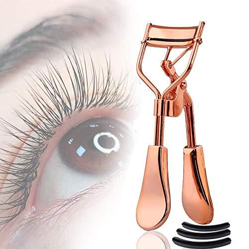 Eyelash Curler, Premium Lash Curler for Perfect Lashes, Eye Lash Curler with 3 Eyelash Curler Replacement Pads and Satin Bag,Fits All Eye Shape.No Pinching.Eyelash Curler for Gift