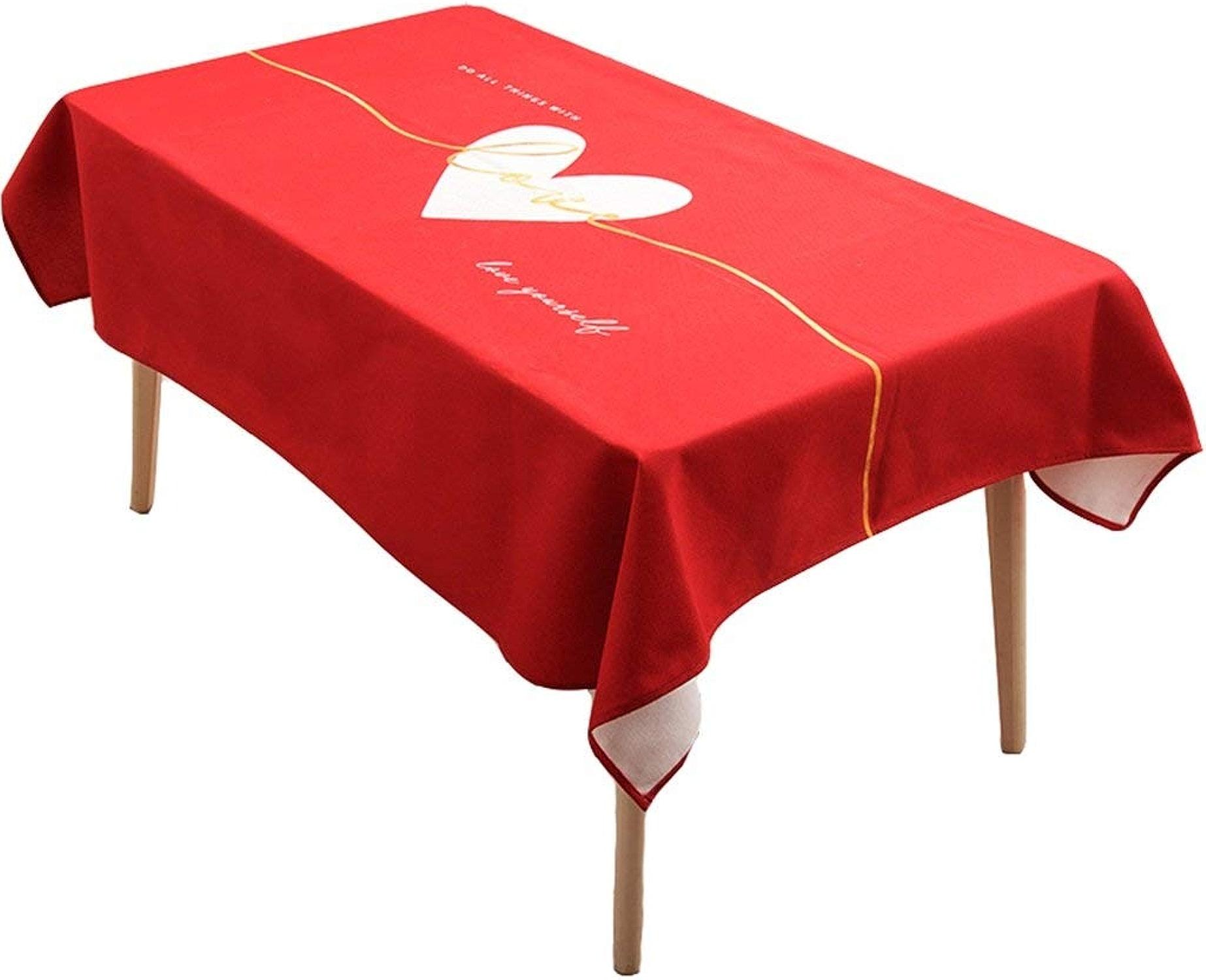 en Nappe Nappe Art Rouge Couleur Fleurs Impression Tissu bfmg7vIY6y