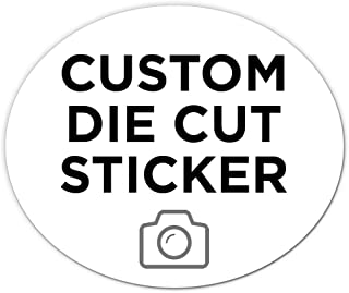 """500 Oval Custom Die Cut Stickers 6"""" x 5"""" for Laptops, Windows, Cell Phones, Cars. Upload Your own Image, Logo, or Design…"""