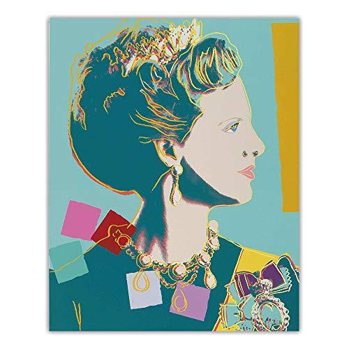 Andy Warhol Pop Arte Lienzo óLeo Pintura CláSico PóSter Imprimir Retrato Cuadro Vintage Pared Arte para Salon Dormitorio Pared Decoracion 40x50cm No Marco