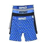 PSD Men's Brief Underwear Bottom (Modal Blue/Blk/Gry, S) 3 pack