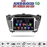 ANDROID 10 GPS DVD USB SD WI-FI Bluetooth Mirrorlink autoradio 2 DIN navigatore compatibile con Hyundai IX35 2009-2015