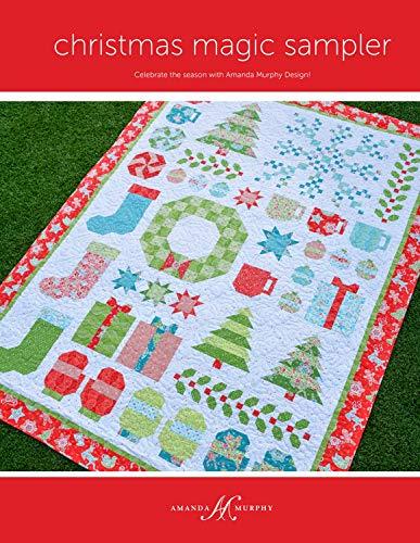 """Christmas Magic Sampler - Patrón de bordado para colcha, 182,88 x 99,5"""", diseño de Murphy de Amanda, con piezas"""