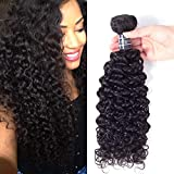 Amella Hair One Bundle Deal (18 inch) Virgin Brazilian Curly Hair Weave 8A Unprocessed Brazilian Kinky Curly Virgin Hair Extensions,Natural Black Color,Can be Dyed and Bleached