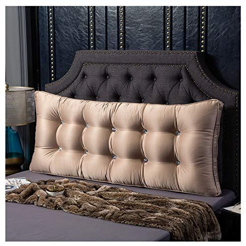 YAOTT Cuscino Grande Testata Cuscino Letto,Cuscino sul Comodino Cuscino del Divano Cuscino Lungo per testiera e Lettura Cammello 80 * 60 * 10cm