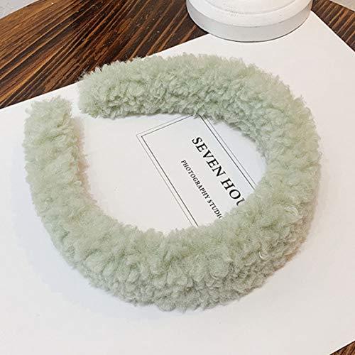 CING Smart Fashion Women'S Girl schattig snoep gewatteerde pluche Hoofdband Haarband Haar Decor Gift 7287# lichtgroen