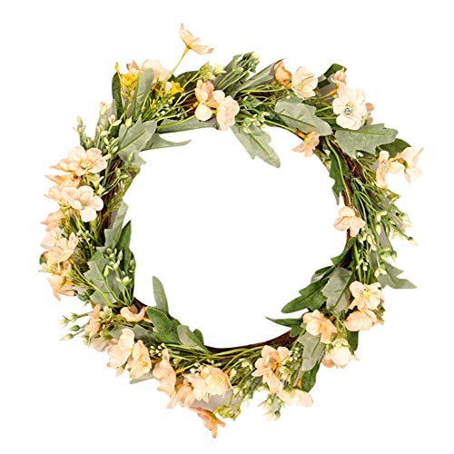 Balai Front Door Wreaths, Artificial Flower Garlands with Leaves, Halloween Christmas Thanksgiving Ornaments Indoor Outdoor, Home Office Wall Wedding Party Hanging Decoration