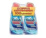 Finish Detersivo Per Lavastoviglie, 100 Lavaggi, Powergel, 2 Confezioni Da 50 Lavaggi...