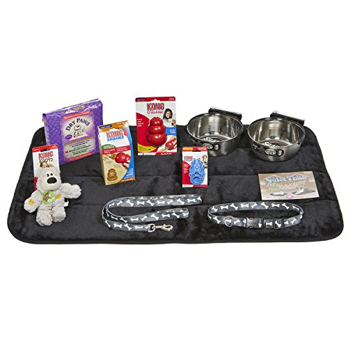 Puppy Starter Kit for Large Dog Breeds, Kit includes: Kong Classic Toys & Treats   Coastal Dog Leash & Collar   MidWest Dog Bowls, Dog Bed & Training Pads
