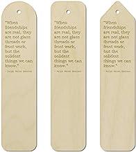 3 x Friendship Quote by Ralph Waldo Emerson Birch Bookmarks (BK00003911)
