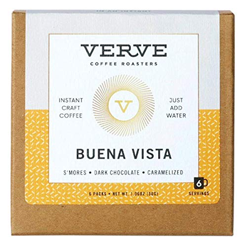 Verve Coffee Roasters Buena Vista Dark Roast Blend Direct-Trade Instant Craft Coffee, Tasting Notes of S'mores, Dark Chocolate, and Caramelized