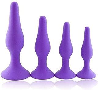LYFBDB 4 Pcs Silicone ańus Plúg Beaded Pleaure Toy G-Spottor B'ut.t Pùgs Sxx Toys for Women Men