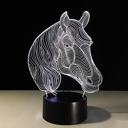 Pferd nachtlicht neuheit Geschenk Art von Farbwechsel Tier tischlampe als die niedrigsten Kosten von heimtextilien