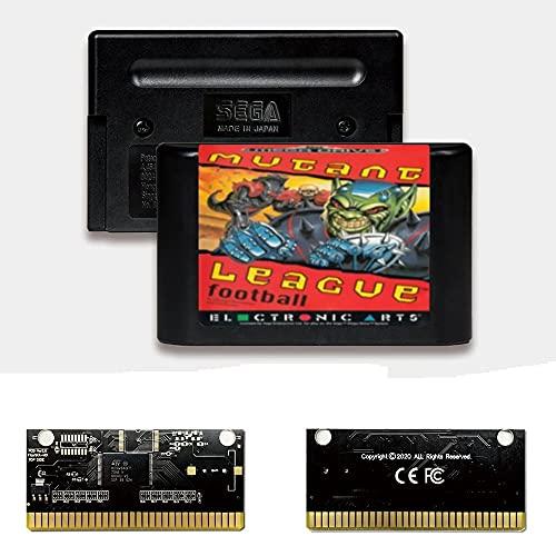 Yuva Mutant League Football EUR Label Flashkit MD Electroless Gold PCB-Karte für Sega Genesis Megadrive Videospielkonsole (PAL-E)