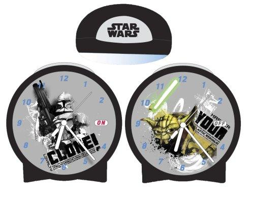 Star Wars - Clone Wars 23240 - Reloj analógico infantil de cuarzo con correa de plástico multicolor (alarma)