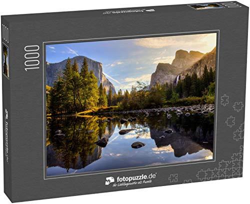 Puzzle 1000 Teile Sonnenaufgang im Yosemite Valley, Yosemite National Park, Kalifornien - Klassische Puzzle, 1000 / 200 / 2000 Teile, edle Motiv-Schachtel, Fotopuzzle-Kollektion 'Berge Landschaften'