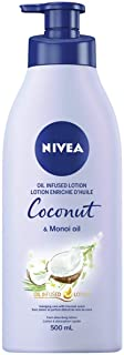 NIVEA Oil Infused Coconut & Monoi Oil Body Lotion (500mL), Body & Hand Lotion for Dry Skin, Fast-Absorbing, Non-Greasy, Mo...