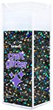 Hemway Black Holographic Super Chunky Craft Glitter Shaker for Arts Crafts Tumblers Schools Paper Glass Decorations DIY Projects - 1/8' 0.125' 3MM - 110g/4.6oz