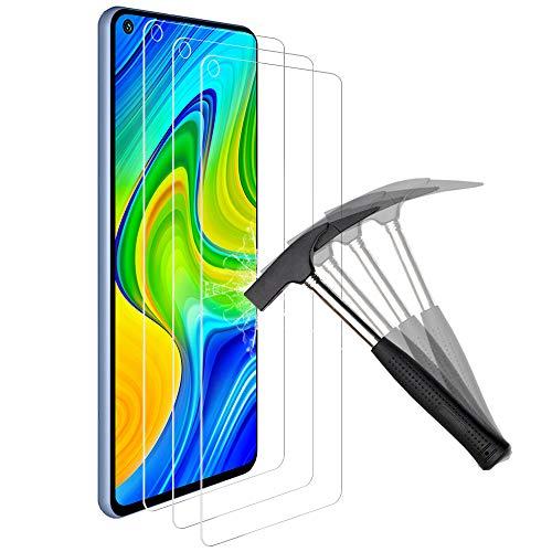 ANEWSIR Compatible con Protector redmi Note 9/Note 9 5G,Protector de Pantalla Cristal Templado de Resistente a Arañazos 9H Dureza - (3 Piezas)