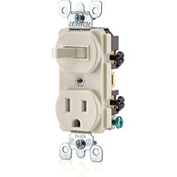 NEW Cooper TR291W Tamper Resistant Toggle Combination Switch//Receptacle 20A 12