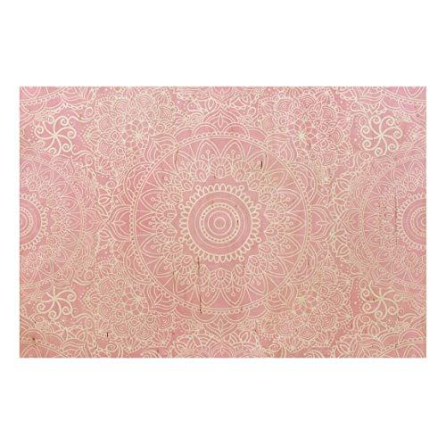 Bilderwelten Holzbild - Muster Mandala Rosa 60 x 90cm