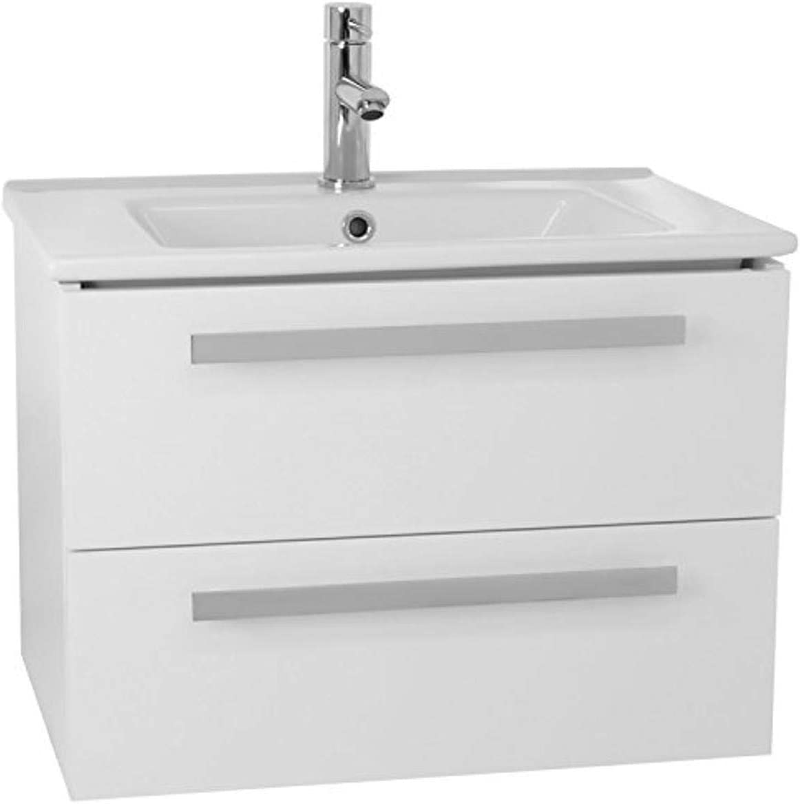 Acf Da25 Dadila Wall Mount Bathroom Vanity Set With 2 Drawers 25 Glossy White Amazon Com