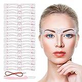 Eyebrow Stencils,12PCS Eyebrow Shaper Kit,Reusable Eyebrow Template With Strap and Eyebrow Razor,3...