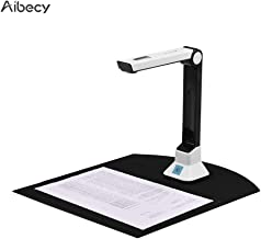 Aibecy BK50 Portable 5 Mega-Pixel High Definition Scanner Capture Size A4 Document Camera with Hard Plastic Plate for Card Passport File Documents Recognition Support 7 Languages