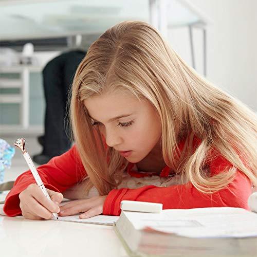 LONGKEY 3PCS Diamond Pens Big Crystal Diamond Ballpoint Pen Bling Metal Ballpoint Pen Offices and Schools, Silver/White With Rose Polka Dots/Rose Gold with White Polka Dots, Includes 3 Pen Refills. Photo #7