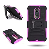 Motorola Moto X 2nd Generation Holster Phone Case with Belt Clip (Hot Pink / Black) | CoverON (Explorer) Hybrid Combo Kickstand Series | Protective Dual Layer Impact Armor Cover for Motorola Moto X 2nd Generation (2014)