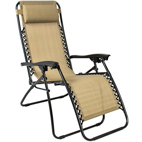 Best Choice Products Zero Gravity Chairs Tan Lounge Patio Chairs Folding Outdoor Yard Beach New