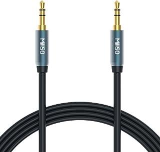 ステレオミニプラグ 3.5mmオーディオケーブル オスーオス 標準3.5mm AUX接続延長ケーブル 高音質再生 スピーカーケーブル スマホ PCスピーカー等に対応-1M