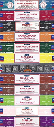 Nag Champa Sunrise Sandalwood Midnight Patchouli Celestial Fortune Blessings Romance Super Hit...