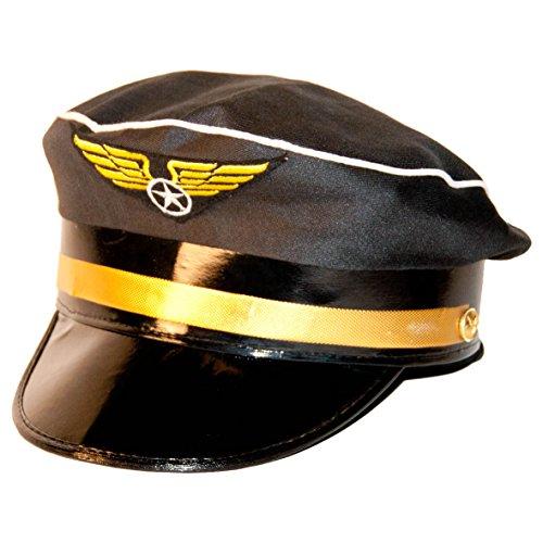 Pilotenmütze in schwarz