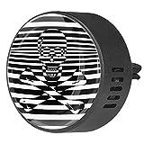Josid 2PCS nero bianco teschio accessori auto deodorante deodorante per aromaterapia diffusore auto clip regalo 40 mm