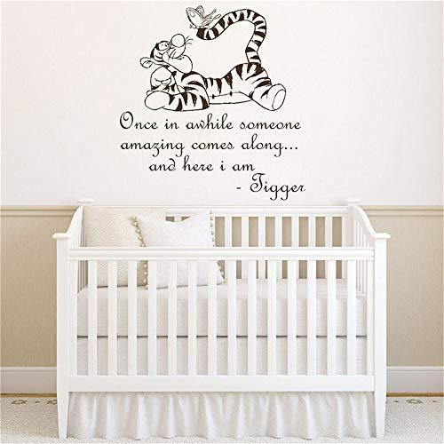 Sticker mural Devis Winnie l'ourson Tigrou pour chambre d'enfant chambre décor chambre bébé décoration pour la maison